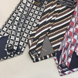 Accessories - Men's Silver Silk Ties Lot of 3